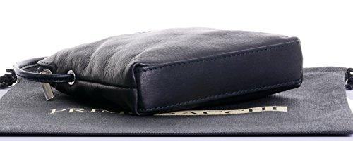 Black Micro Leather Storage Branded Shoulder Handbag Soft Protective Sacchi® Includes Italian Bag Small Cross Body Made Hand Bag Primo twa0qUv