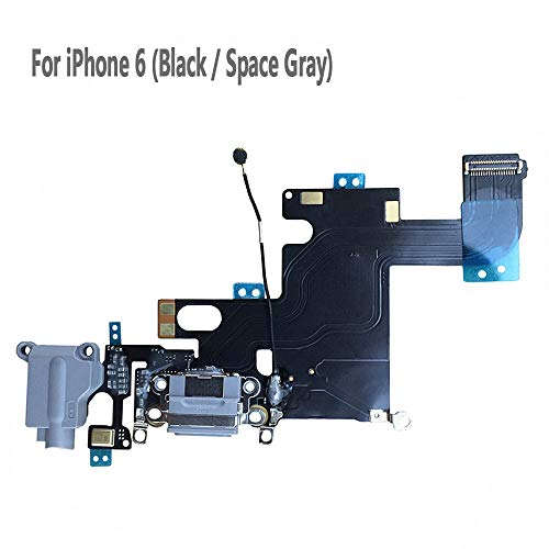 UTechZH USB Charging Port Headphone Jack Dock Connector W/Mic Flex Cable Cellular Antenna Replacement Part Compatible for iPhone 6 4.7