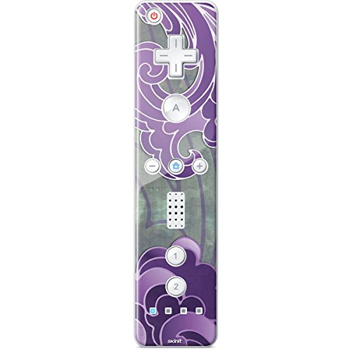 Patterns Wii Remote Controller Skin - Purple Flourish Vinyl Decal Skin For Your Wii Remote Controller