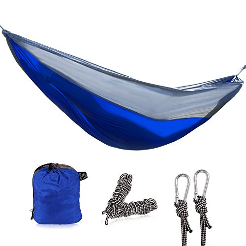 (REDCAMP Nylon Single Hammock for Camping Backpacking, Lightweight and Portable Camping Hammock)