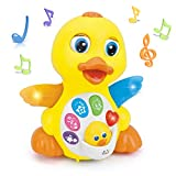 Woby Musical Flapping Yellow Duck Action Educational Learning and Walking Toy for 1 Year Old Baby...