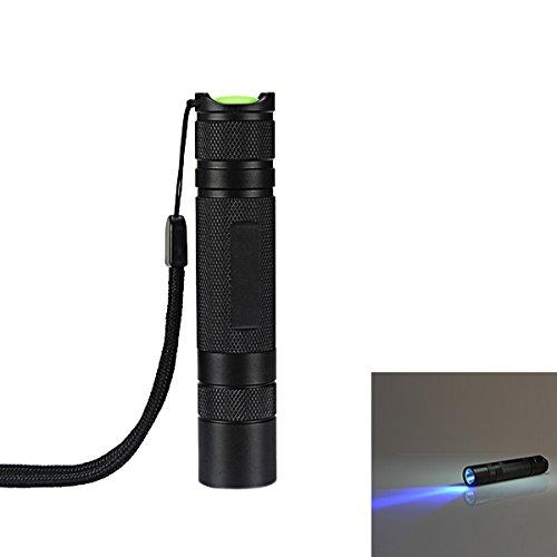 Nichia 3W 365nm UV High Power LED Flashlight 1 x 18650 (Color Titanium gray) by LEEPRA