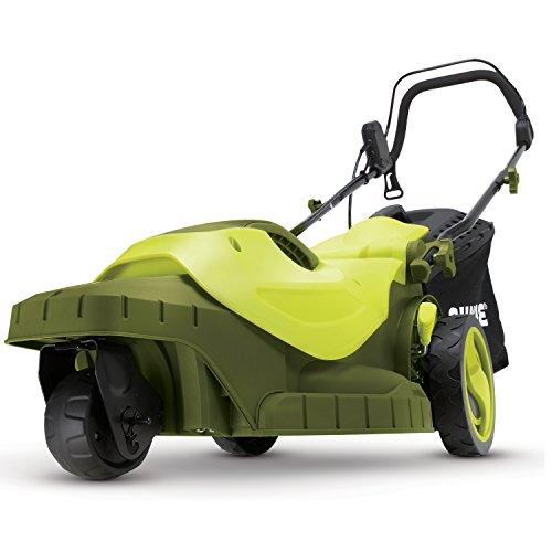 Sun Joe MJ404E-360 16-Inch 12-Amp 360-Degree Turning Radius Electric Lawn Mower, Green
