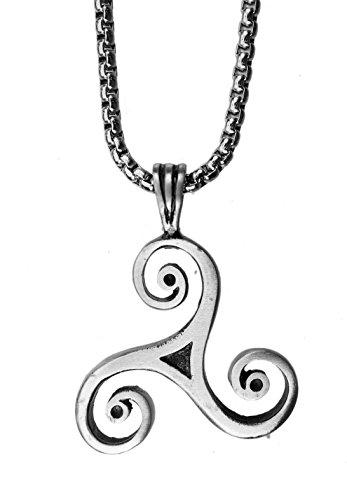exoticdream Classic Triskele Magic Merlin Celtic Pewter Pendant (24