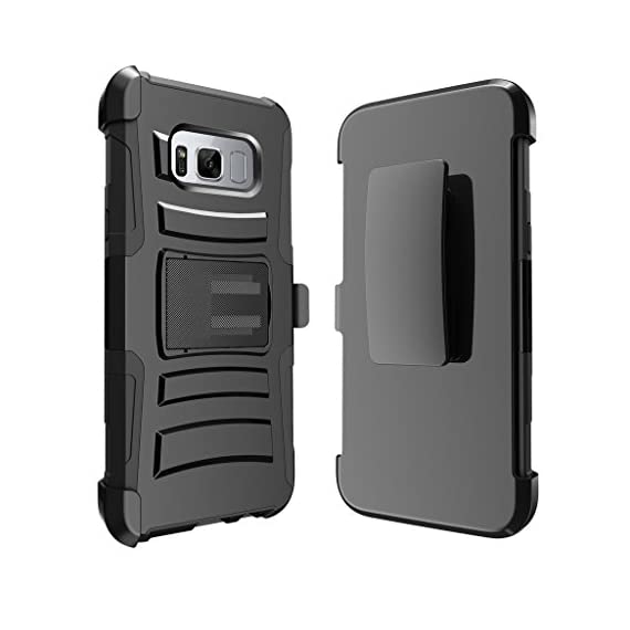 TurtleArmor | Compatible with Samsung Galaxy S8+ Case | S8 Plus Case | G955 [Hyper Shock] Hybrid Dual Layer Armor Holster Belt Clip Case Kickstand - Bat Signal 2 Dual Layer Protection - Soft inner silicone skin and hard outer polycarbonate PC plastic for the ultimate protection Kickstand - Built-in stand allows for hands-free media viewing in landscape or portrait mode Hundreds of Designs to Choose From - Offers a variety of unique, cool, and custom designs.