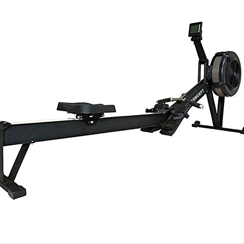 PowerBoostConcept Rowing Machine, Foldable Rower for Home Gym, 10 Levels Air Resistance, LCD Display & Bluetooth Connectivity, Preset Workouts