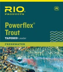 (RIO Products Leaders Powerflex Knotless 15' 4X Leaders, Clear)