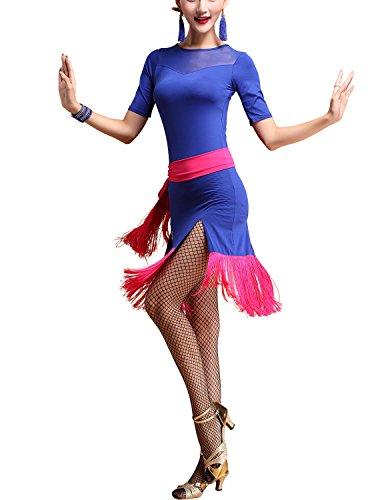 Ballroom Latin Tango Rumba Cha Cha Samba Jive Salsa 1920s Flapper Dancers Dress (Flapper Dancer)
