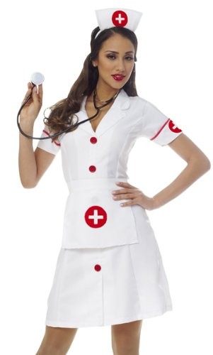 Costume Culture Women's Classic Nurse Costume, White, Small ()
