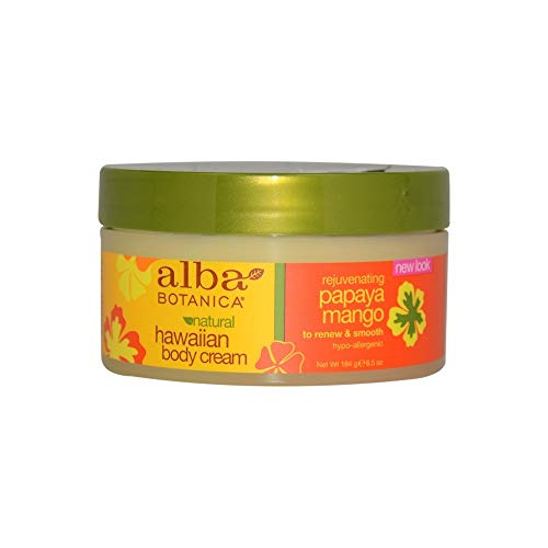 (Alba Botanica Hawaiian Body Cream Rejuvenating Papaya Mango, 6.5 Ounce )