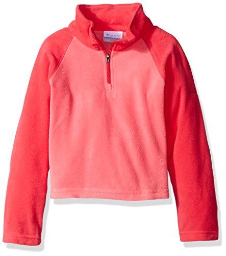 Columbia Jacket Game (Columbia Big Girls' Glacial Fleece Half Zip Jacket, Camellia Rose/Punch Pink, Large (14/16))