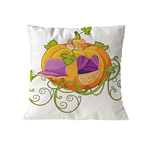 GOVOW Thanksgiving Day Gifts Decor Halloween Pumpkin Cushion Cover Square Pillow -