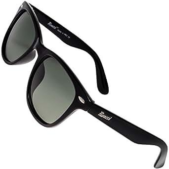 Rivacci Gafas de Sol de Moda Polarizadas estilo Wayfarer - Outlet Sunglasses - Marca Retro / Vintage Baratas para Mujer y Hombre – Deportivas Negro / G15 ( verde / gris ) Polarizado