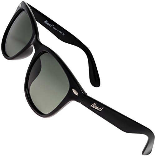 Rivacci Men Women Wayfarer Black Frame / G15 Green – Gray Lens Classic Retro Polarized - To Where Ray Buy Bans