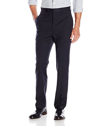 Moda Elegante Men's JNP601 Slim Fit Dress Pants - Navy - 34x29