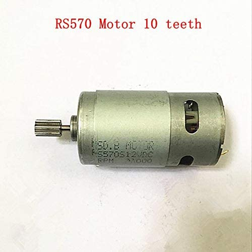 12V RS570 Micro Motor for Electric Toy Car Motorcycle 15000 rpm 10T