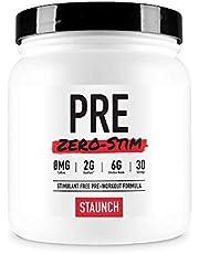 Staunch PRE Zero-Stim - 30 Servings, Pre-Workout Powder, No Stimulates. with Betapure, L-Citrulline, Vitamin B12 and More