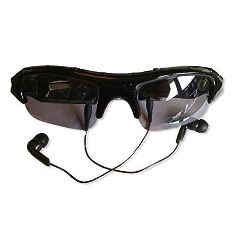 gafas solares espía cámara y reproductor de MP3 espía: Amazon.es: Electrónica