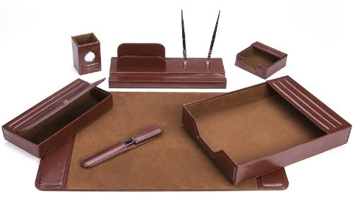 Charming Amazon.com : Majestic Goods Office Supply Leather DeskSet, Brown 7 Piece  (105 DSG7) : Office Desk Organizers : Office Products