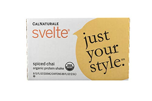 Svelte Organic Protein Shake, Spiced Chai, 11 Ounce (Pack of 8)