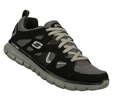 Skechers Synergy Gridiron Mens Sneakers Black/Gray 8.5