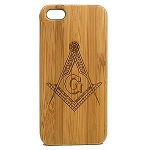 Freemasons iPhone 6 4.7 Case. Freemasonry Masonic Square & Compasses Symbol Bamboo Wood Cover. Customized Personalized Fraternal Fraternity