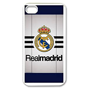 iPhone 4,4S Custom Cell PhoneCase Real Madrid FC Logo Case Cover WWPF34123
