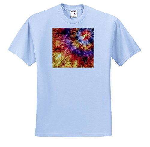 Starburst 12 Light (3dRose Phil Perkins - Graphic Design - Shades Of Orange Tie Dye Starburst - T-Shirts - Light Blue Infant Lap-Shoulder Tee (12M) (TS_265150_76))