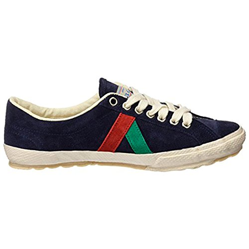 El Ganso M Match Ante/Canvas Ribbon, Chaussures homme, Baskets mode, Sneaker Waking (Berliner) Suede Dark Blue