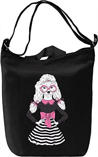 Poodle girl Borsa Giornaliera Canvas Canvas Day Bag| 100% Premium Cotton Canvas| DTG Printing|