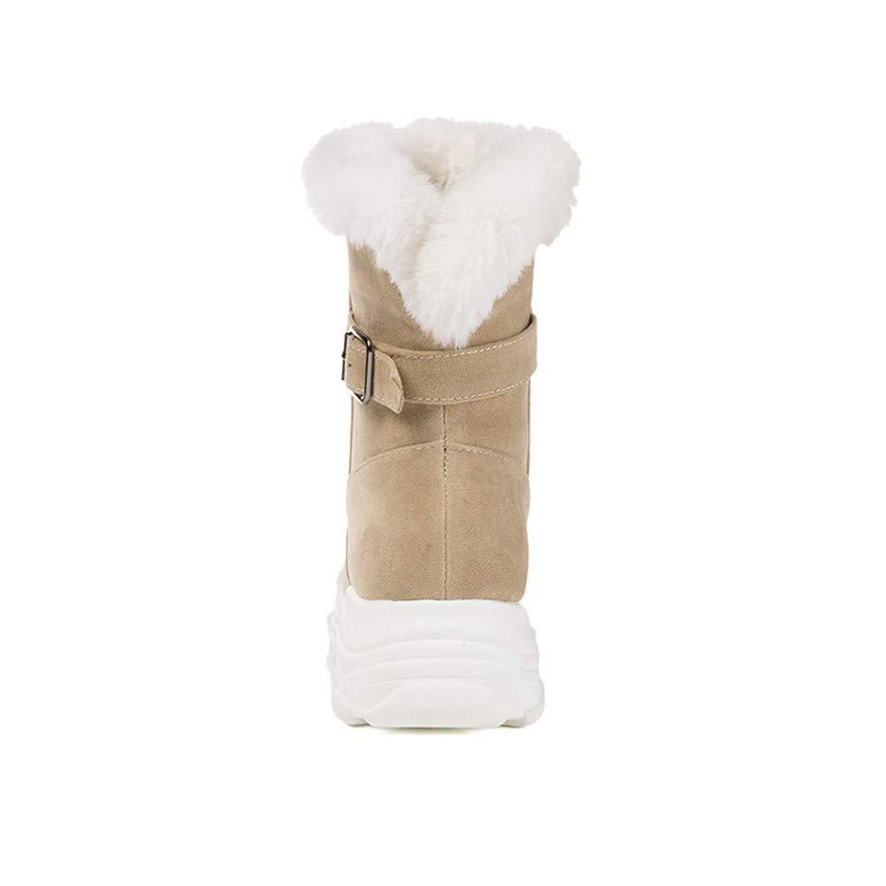 XPFXPFX Bewegung Freizeit Mode Trend Outdoor Winter Frauen Frauen Frauen Schuhe Runde Kappe Stiefeletten Schnalle Bequeme Lässige Warme Schneeschuhe f35619
