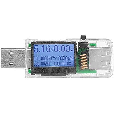 ZhanPing Memory Modules  5pcs Transparent USB Tester Digital Amperemeter Voltmeter Voltagecurrent Meter Ammeter Detector Power Bank Charger Indicator