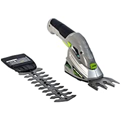 Cordless, lithium powered and two tools in one, the Earth wise garden trimmer combo set is great for gardening, lawn maintenance and small trimming jobs. Use the 6 inch hedge trimmer blade for quick touch ups or use the three inch grass shear...