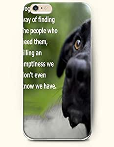 iPhone Case,OOFIT iPhone 6 (4.7) Hard Case **NEW** Case with the Design of dog has a way defending the people who need them, filling an emptiness we don't even know we have. - Case for Apple iPhone iPhone 6 (4.7) (2014) Verizon, AT&T Sprint, T-mobile