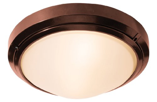 (Access Lighting 20355MGLED-BRZ/FST Oceanus LED Light Wet Location 12-Inch Diameter Flush/Wall Mount with Frosted Glass Shade, Bronze)