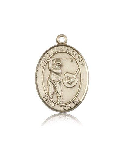 14kt Gold St. Christopher/Golf Medal