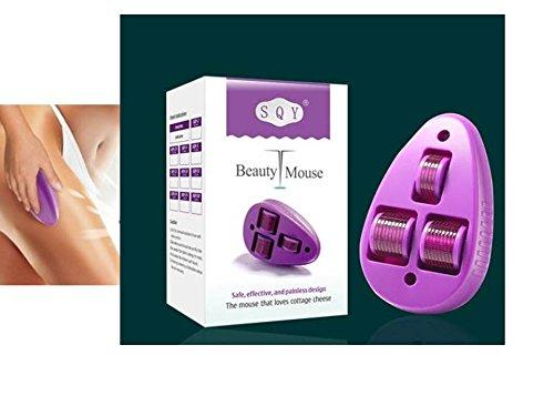 Body Mouse dermaroller–Diseño innovador con 3ruedas/1,5mm Aguja Longitud/grossflächig temporal, tratamiento para cuerpo SQY