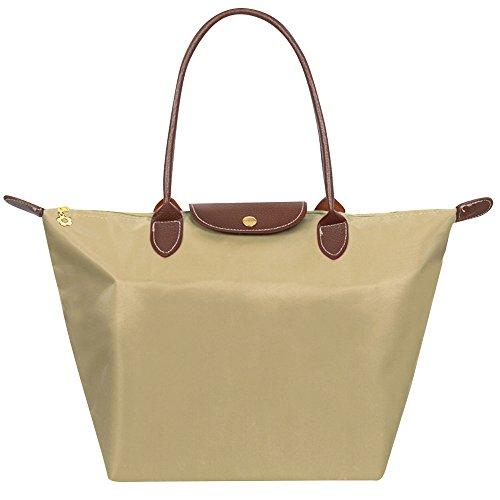 Bag 3 Designed Folding Handbags 17 Sizes Purse Tote Khaki Shopping amp; Casual Fashion Tote Beach Nylon Travel Bag Women Colours Wocharm In cFAaqwn7n