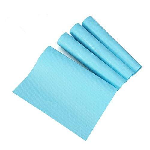 Tappetino frigorifero, Haofy 4 pezzi può essere tagliato Frigo Scaffali Shelf Mats anti-batterico Anti-frost Impermeabile Pads Armadi Mensole del cassetto Tappetini blu