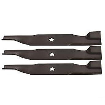 Amazon.com: HUSQVARNA Aftermarket - Juego de 3 cuchillas de ...