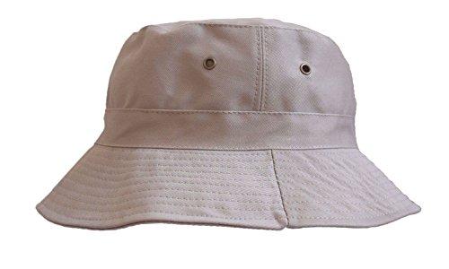 Khaki Bucket Hat Cap Boonie Cotton Fishing Hunting Safari Sun Men Women Brim 1df28d0d19be