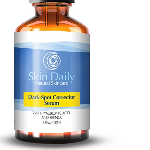 Best Dark Spot Corrector For Face Serum - Effective for Melasma, Acne, Age Spots, Dark Spots, and Sun Spots- Contains Hyaluronic Acid, Witch Hazel, Salicylic Acid, Retinol (1%), Glycolic Acid, - 1 oz