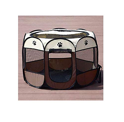Brown White 73x73x43cm Brown White 73x73x43cm Cookisn Pet Dog Breathable Waterproof Dog House Nest Dog Baskets Dog Cat Tent Playpen Puppy Kennel for Cat Puppy Plus Size Drop Shipping Brown White 73x73x43cm