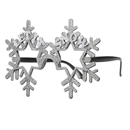 Christmas Glasses Party Eyeglasses Let it Snow Glitter Snowflake Eyeglasses Novelty Costume Accessory Xmas New Year Glasses Party Photo Booth Props