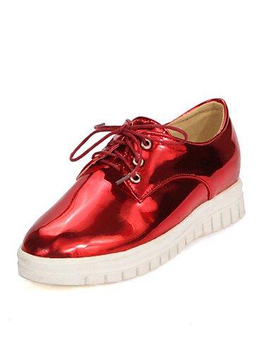 us6 Arrondi Njx Sport Red extérieure Rouge Personnalisées bout Uk4 Cn36 richelieu Plat Or bleu Eu36 Hug Confort Chaussures matières Femme talon Décontracté UXU7rw