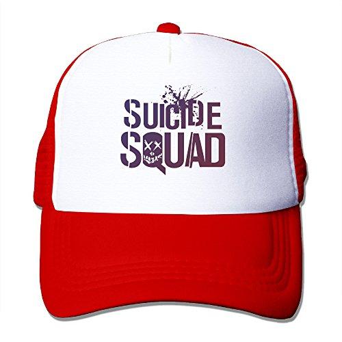CYSKA Unisex-Adult Mesh Cap Hats Suicide Movie Squad Baseball Cap Hat Red ()