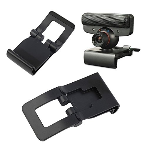 Black TV Clip Bracket Adjustable Mount Holder Stand For PS3 Move Controller Eye Camera Wholesale
