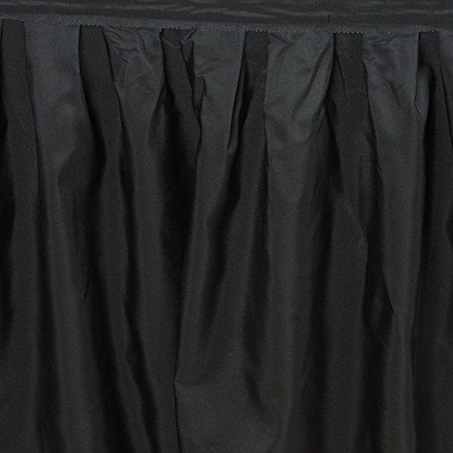 LinenTablecloth 14 ft. Accordion Pleat Polyester Table Skirt Black by LinenTablecloth (Image #3)