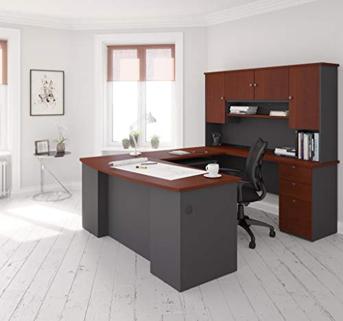(U-Shaped Desk with Pedestal and Hutch)