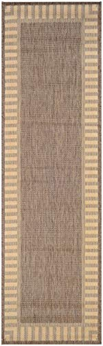 Couristan Recife 1681/1500 Wicker Runner, 2-Feet 3-Inch by 7-Feet 10-Inch, Stitch/Cocoa/Natural